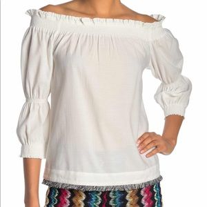 Trina Turk NWT Ragtime Off the Shoulder Top